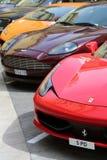 Allineamento esotico delle automobili nel Monaco Fotografia Stock