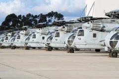 Allineamento militare dell'elicottero Immagini Stock