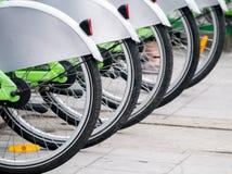 Allineamento pubblico della bicicletta Fotografia Stock Libera da Diritti