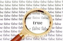 Allineare e falso Fotografia Stock
