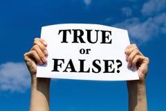 Allineare o falso Immagine Stock Libera da Diritti