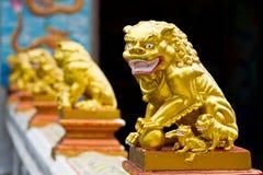Allineato dei leoni cinesi Immagini Stock
