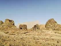 Allineato drammaticamente in cima ad una cresta rocciosa Fotografia Stock Libera da Diritti