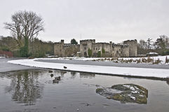 Allington Castle in Snow Royalty Free Stock Images