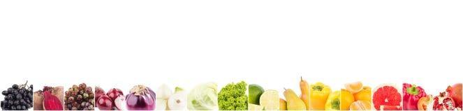 Allini dai frutti colorati crudi differenti, isolati Immagini Stock Libere da Diritti