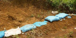 Allini i sacchi di suolo Bogor contenuto foto Indonesia Immagine Stock