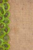 Allini, kiwi e tela da imballaggio secchi per il menu Immagine Stock Libera da Diritti