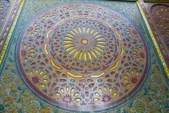 allini nelle mattonelle del Marocco e nell'estratto ceramico colorated del pavimento Fotografie Stock Libere da Diritti