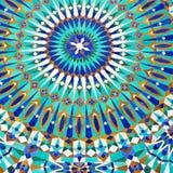 allini nelle vecchie mattonelle del Marocco Africa e nel abst ceramico colorated del pavimento Fotografia Stock Libera da Diritti