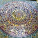 allini nelle vecchie mattonelle del Marocco Africa e nel abst ceramico colorated del pavimento Immagine Stock Libera da Diritti