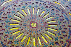 allini nelle vecchie mattonelle del Marocco Africa e nell'estratto colorated Fotografia Stock