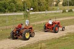 Allis Chalmers pulling an Allis Chalmers royalty free stock photography