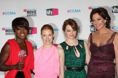Allison Janney, Emma Stone, Jessica Chastain, Viola Davis Royalty Free Stock Photos