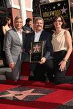 Allison Janney, George Clooney, John Wells Royalty Free Stock Photos