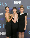Allison Williams, Lena Dunham, Zosia Mamet Stock Foto's