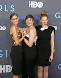 Allison Williams, Lena Dunham, Zosia Mamet Stock Photos