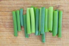 Allium o puerro del ajo imagen de archivo libre de regalías