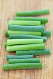 Allium ou alho-porro do alho imagens de stock