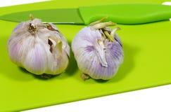 Allium sativum conosciuto comunemente come aglio Fotografia Stock