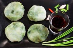 Allium Tuberosum ciasta dekatyzacja Zdjęcie Stock