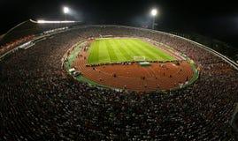 Allmän överblick av den röda stjärnaBelgrade stadionen royaltyfria foton