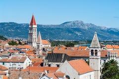 Allmän bästa sikt på den kluvna staden - Dalmatia, Kroatien Fotografering för Bildbyråer