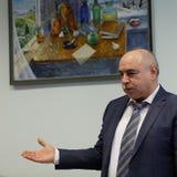 Allmän direktör av kemikalie-biologiskt företag Vita Mikhail Borts Royaltyfri Bild