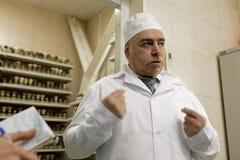 Allmän direktör av kemikalie-biologiskt företag Vita Mikhail Borts Fotografering för Bildbyråer