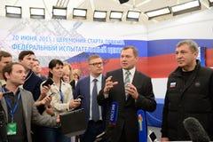 Allmän direktör av ryska raster Oleg Budargin för JSC Fotografering för Bildbyråer