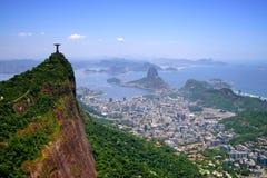 Allmän flyg- sikt av Rio de Janeiro Arkivfoton