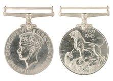 1939-1945 allmän inskrift för tjänste- medalj Arkivbild