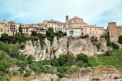 Allmän sikt av den Cuenca staden i morgonen. Castilla-La Mancha, Arkivbilder