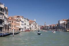 Allmän sikt av den Granc kanalen i Venedig Royaltyfria Foton