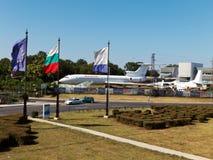 Allmän sikt av den Sarafovo flygplatsen Arkivbilder