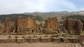 Allmän sikt av forumet, ruin& x27; s av djemilaen, Algeriet Arkivbilder