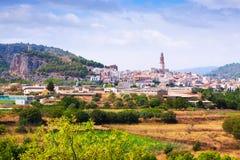 Allmän sikt av Jerica. Valencian gemenskap Arkivbild
