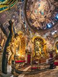 Allmän sikt av kyrkan av San Antonio de los Alemanes, Madrid arkivbild
