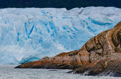 Allmän sikt av Peritoen Moreno Glacier arenaceous Landskap Arkivfoton