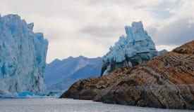 Allmän sikt av Peritoen Moreno Glacier arenaceous Landskap Arkivbilder