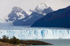 Allmän sikt av Peritoen Moreno Glacier arenaceous Landskap Royaltyfri Fotografi