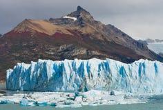 Allmän sikt av Peritoen Moreno Glacier arenaceous Landskap Arkivbild