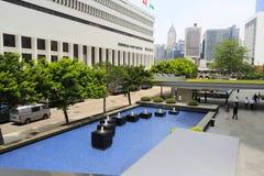 Allmän stolpe - kontor i centralen, Hong Kong Arkivbild