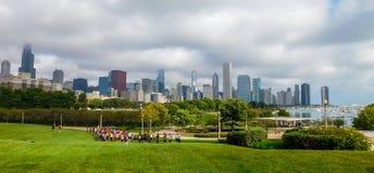 Allmänhet parkerar sikt i Chicago arkivbild
