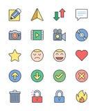 Allmänna symboler, färguppsättning 1 - vektorillustration Arkivbilder