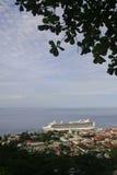 Allmänt beskåda av Roseau, Dominica Arkivfoto