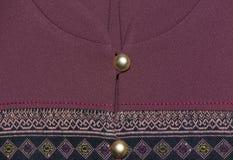 Allmänt thailändsk traditionell siden- skjorta Fotografering för Bildbyråer
