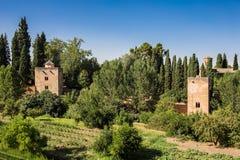 Allmän sikt av Alhambraen Royaltyfri Bild