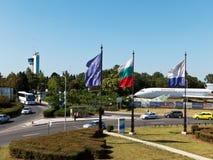 Allmän sikt av den Sarafovo flygplatsen Royaltyfria Foton
