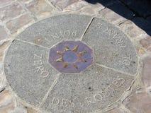 Allo zero assoluto delle strade della Francia nel quadrato della cattedrale Notre Dame, medaglione curioso che somiglia ad una ro Immagini Stock