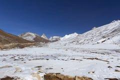 Allo zero assoluto nel Sikkim del nord. Fotografie Stock